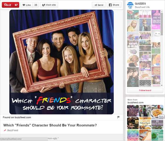 Friends on Buzzfeed