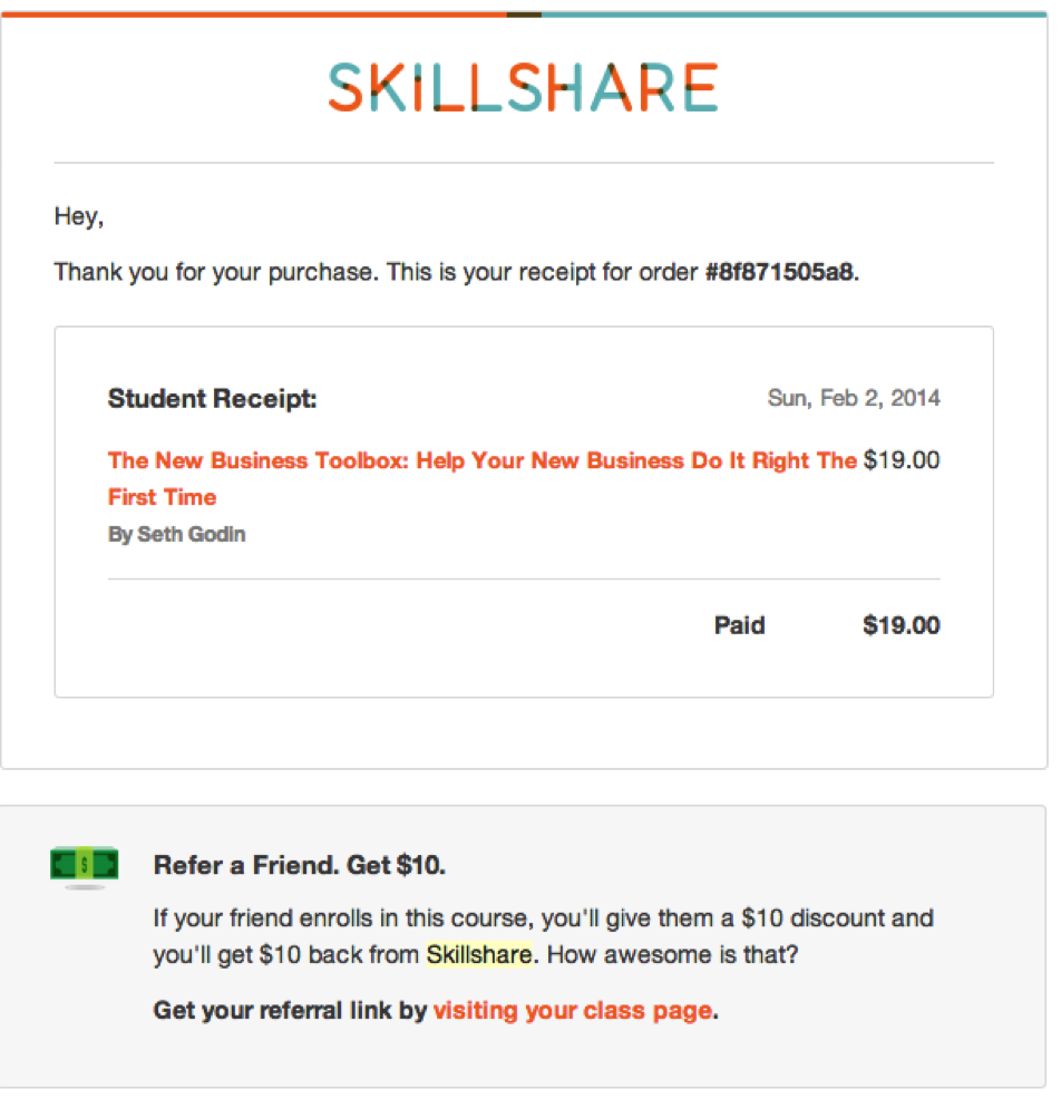 email-marketing-skillshare-example