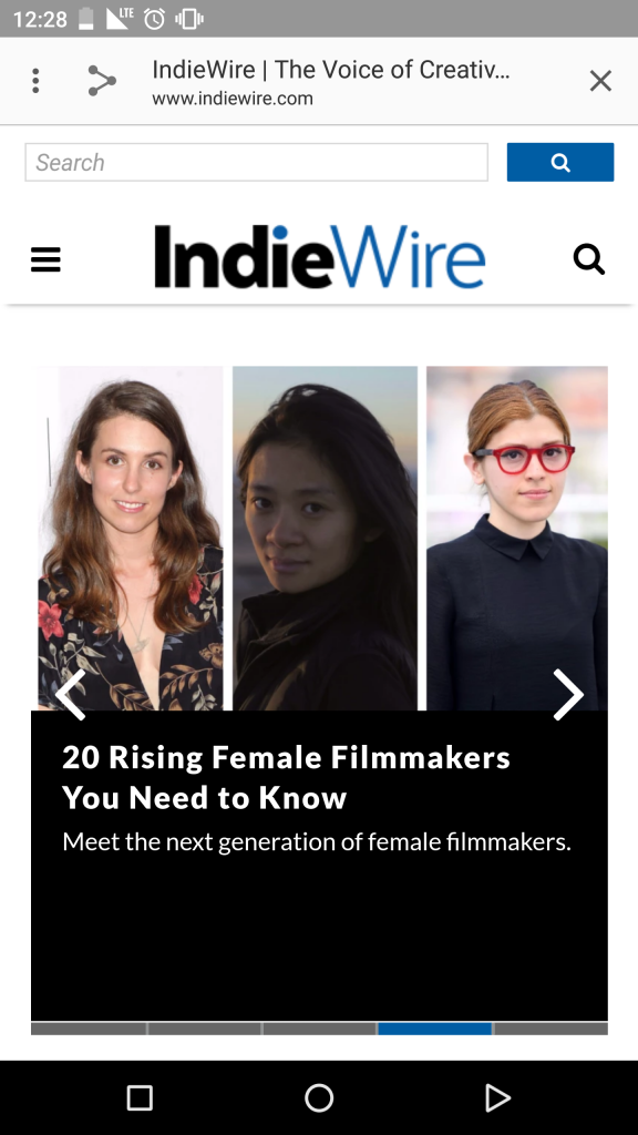 IndieWire search bar